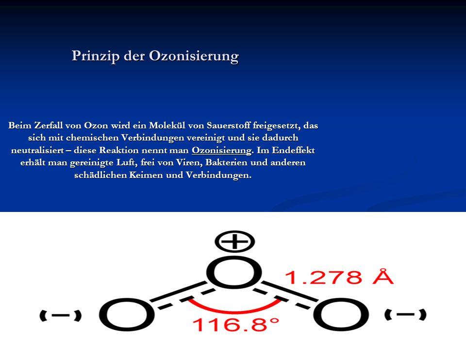 Prinzip der Ozonisierung