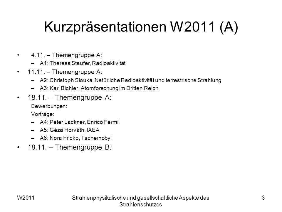 Kurzpräsentationen W2011 (A)