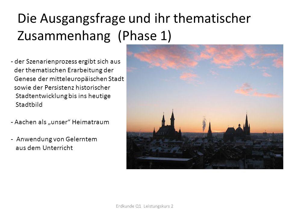 Die Ausgangsfrage und ihr thematischer Zusammenhang (Phase 1)