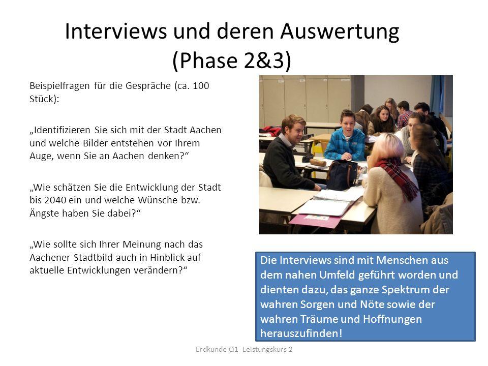 Interviews und deren Auswertung (Phase 2&3)