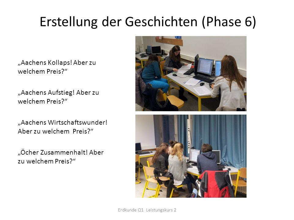 Erstellung der Geschichten (Phase 6)