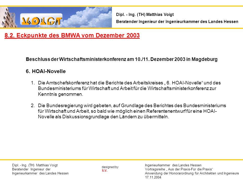 8.2. Eckpunkte des BMWA vom Dezember 2003