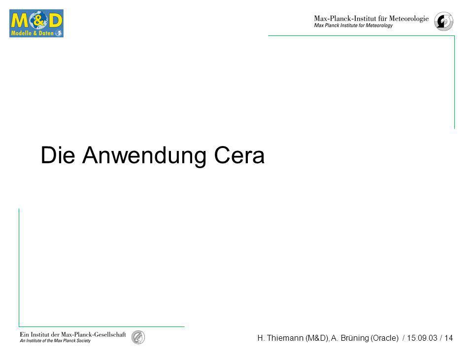 Die Anwendung Cera