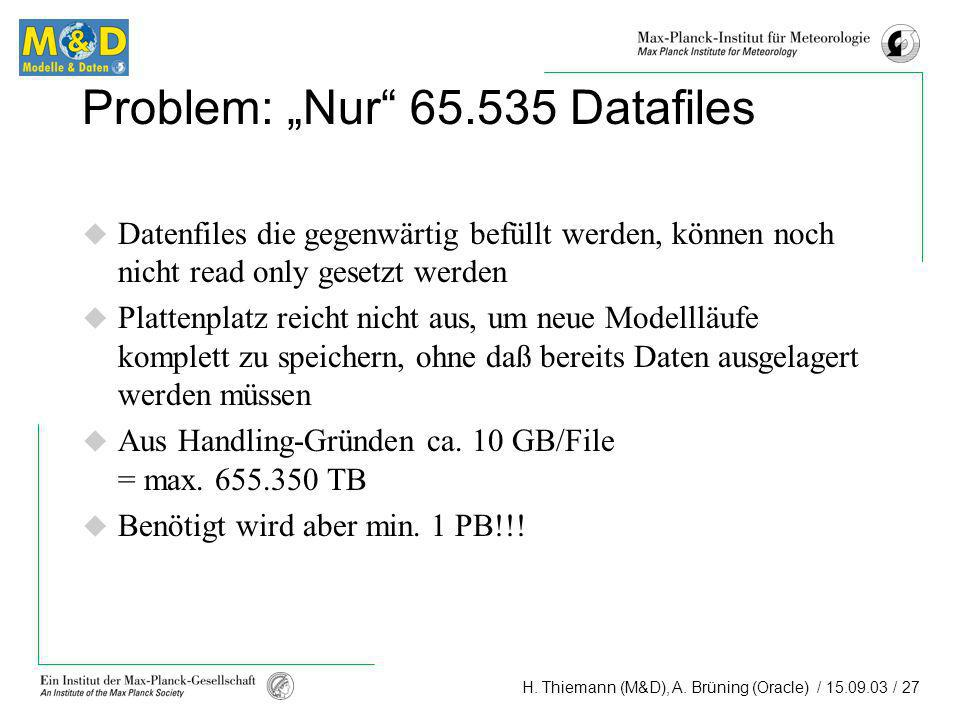"Problem: ""Nur Datafiles"