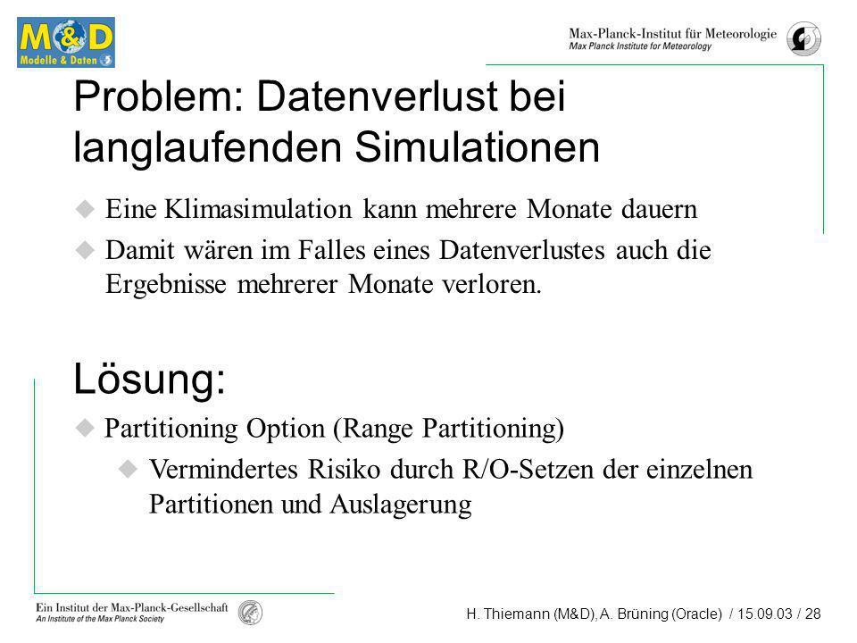 Problem: Datenverlust bei langlaufenden Simulationen
