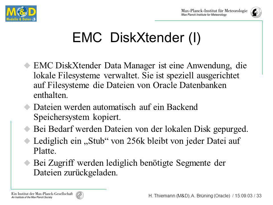 EMC DiskXtender (I)
