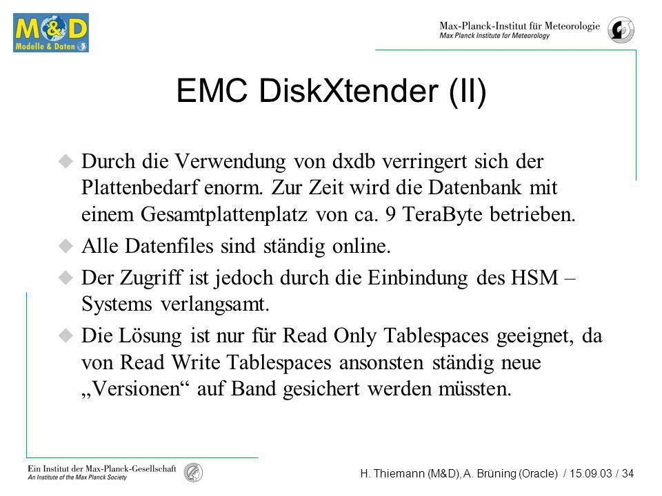 EMC DiskXtender (II)