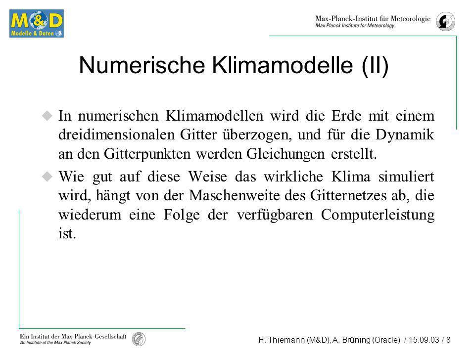 Numerische Klimamodelle (II)