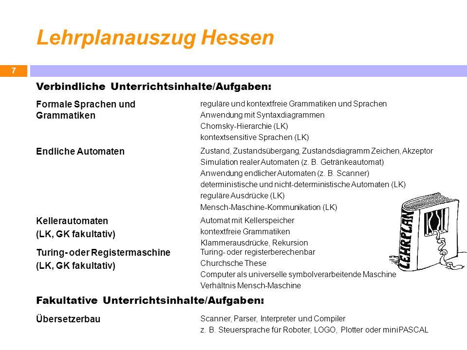 Lehrplanauszug Hessen