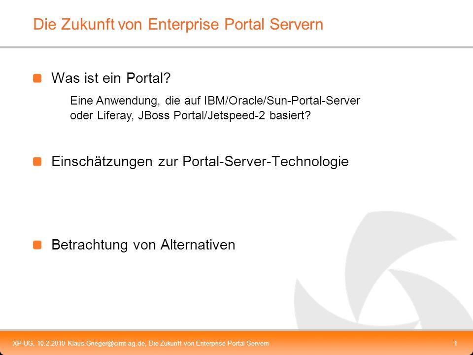 Die Zukunft von Enterprise Portal Servern