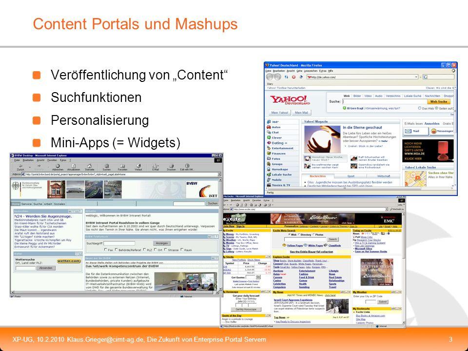 Content Portals und Mashups