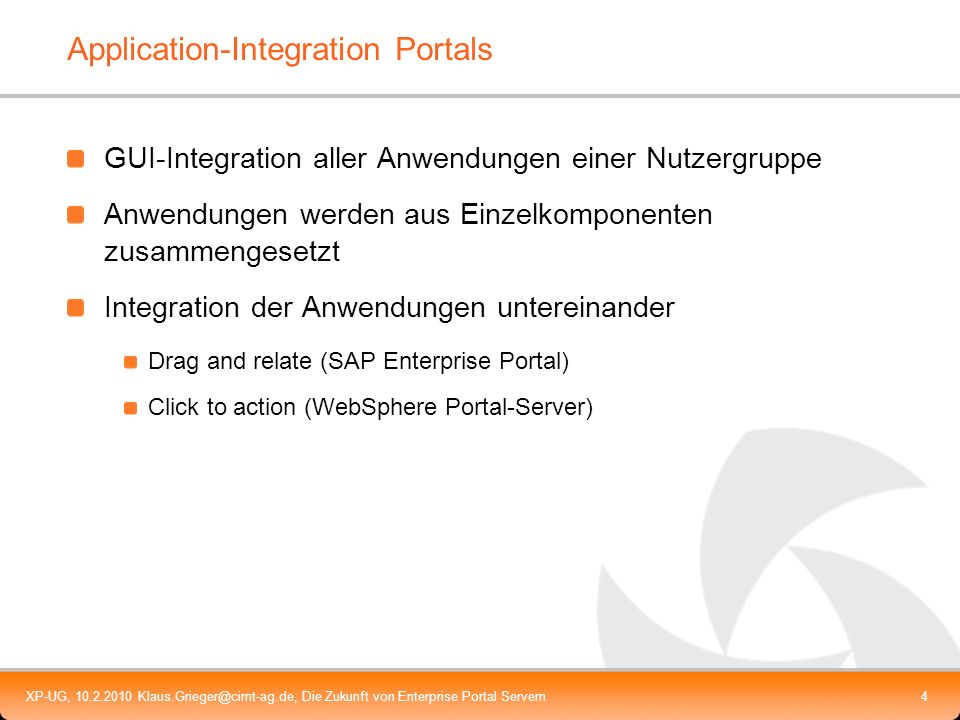 Application-Integration Portals