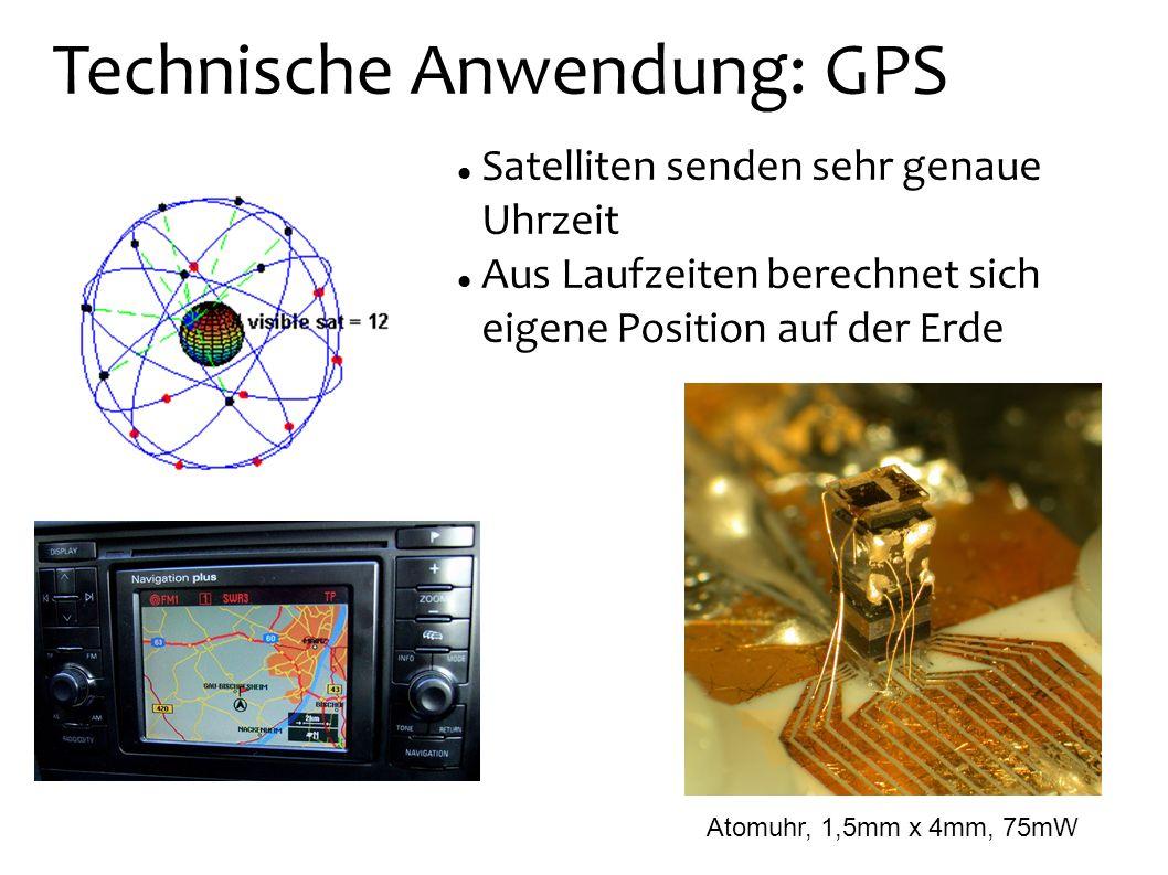 Technische Anwendung: GPS