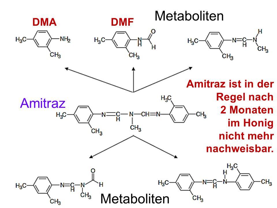 Metaboliten Amitraz Metaboliten DMA DMF
