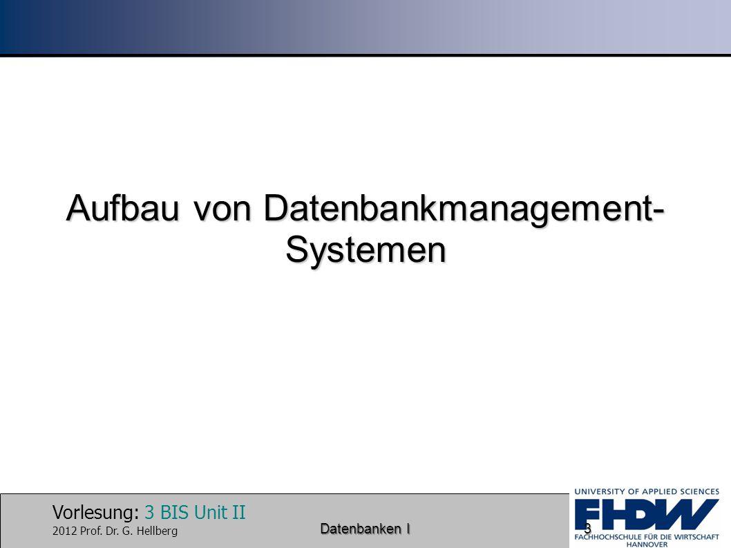 Aufbau von Datenbankmanagement-Systemen