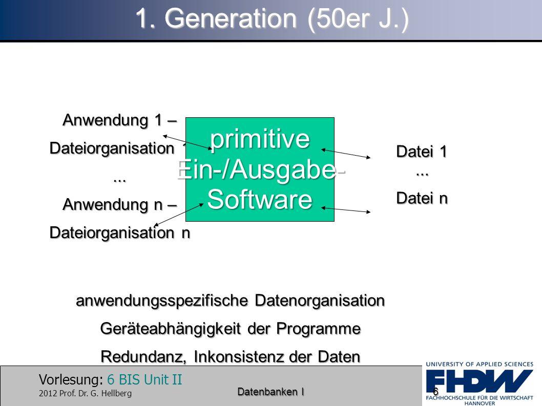 primitive Ein-/Ausgabe- Software