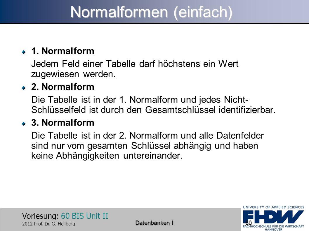 Normalformen (einfach)