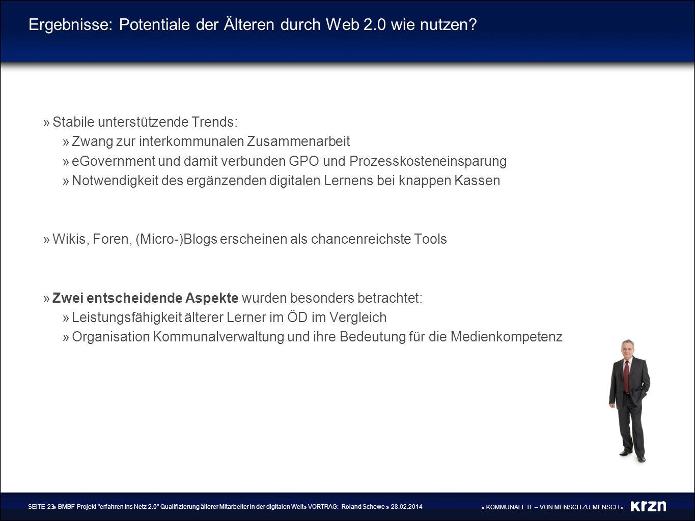 Ergebnisse: Potentiale der Älteren durch Web 2.0 wie nutzen