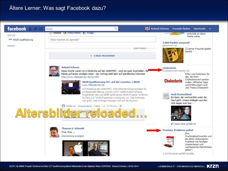 Ältere Lerner: Was sagt Facebook dazu