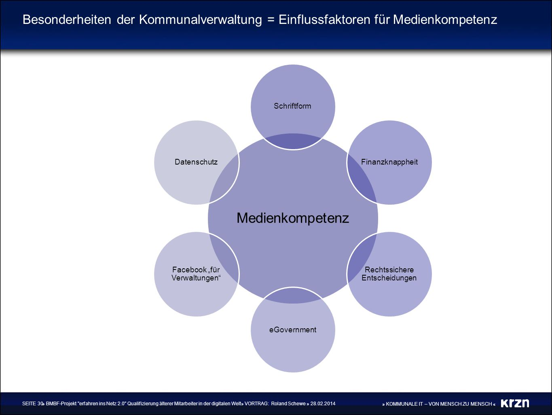 Besonderheiten der Kommunalverwaltung = Einflussfaktoren für Medienkompetenz