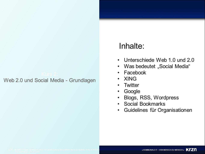 Web 2.0 und Social Media - Grundlagen