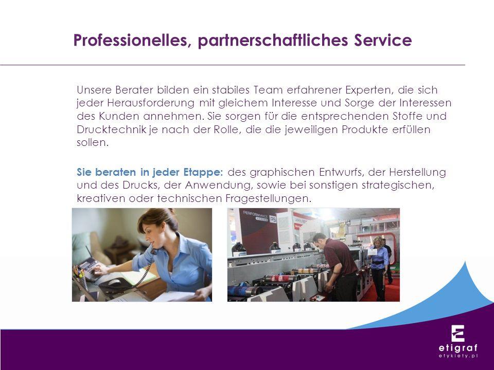 Professionelles, partnerschaftliches Service