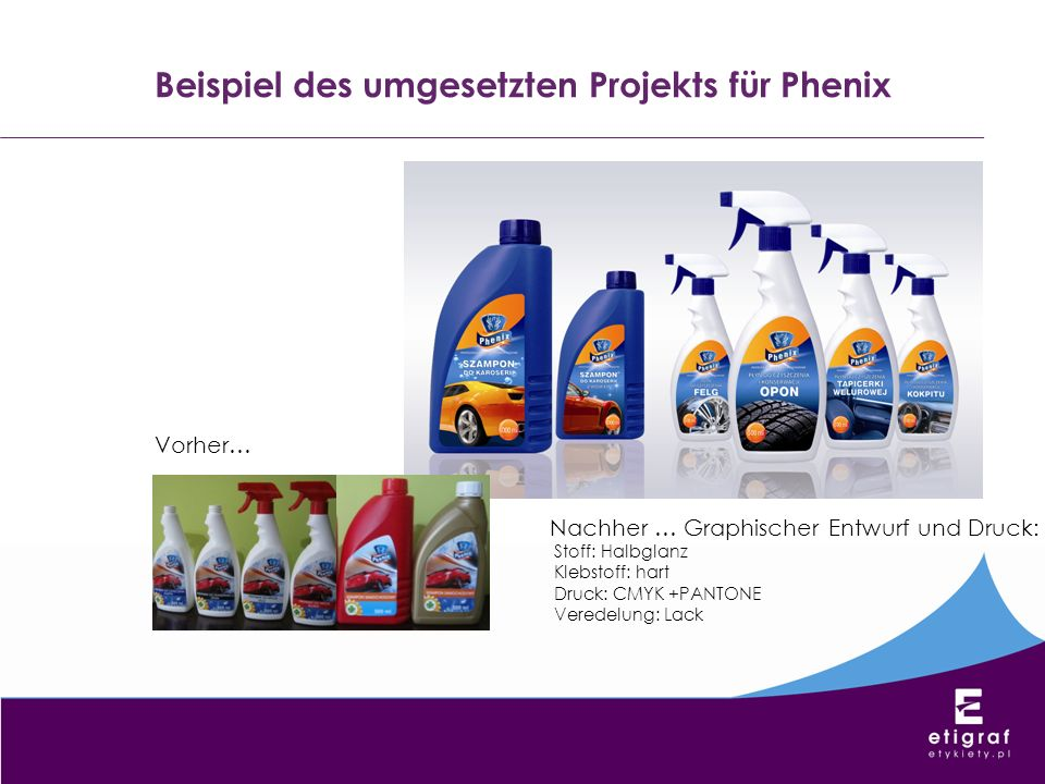 Beispiel des umgesetzten Projekts für Phenix