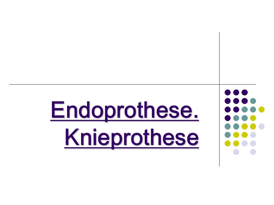 Endoprothese. Knieprothese