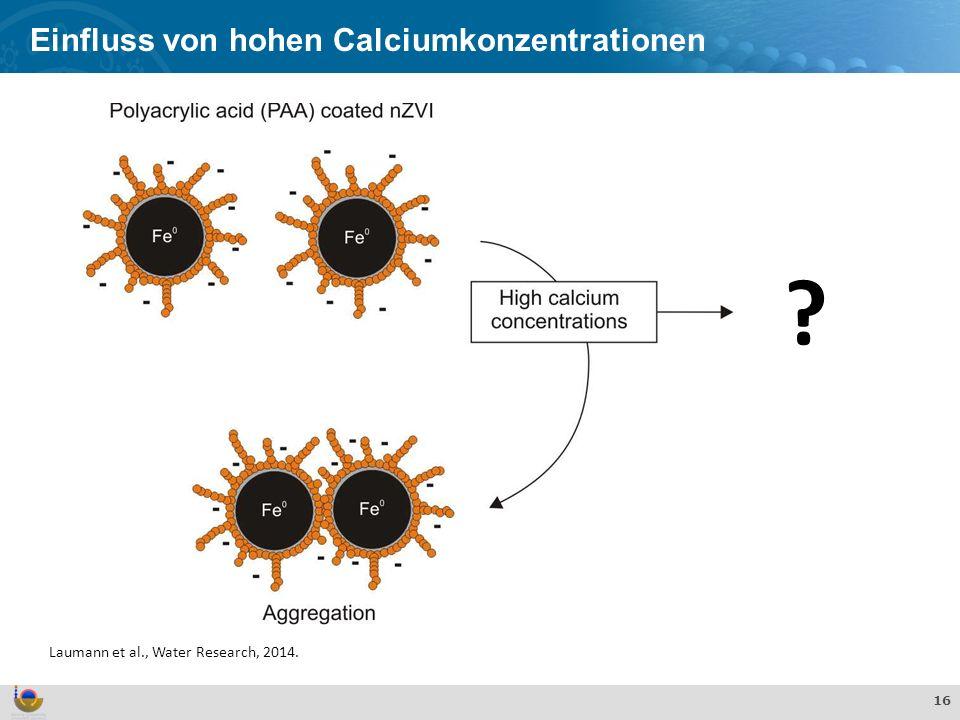 Einfluss von hohen Calciumkonzentrationen