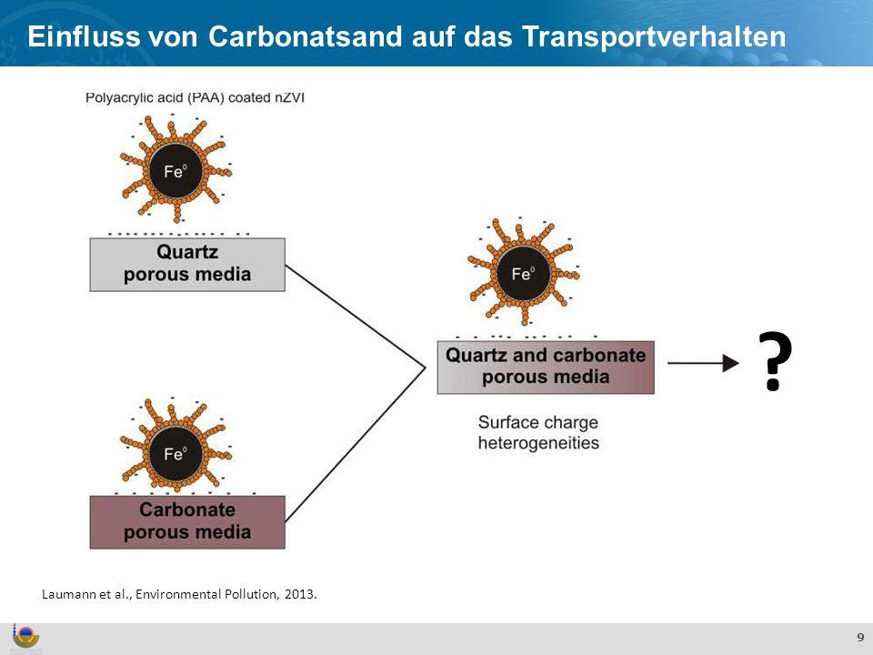Einfluss von Carbonatsand auf das Transportverhalten