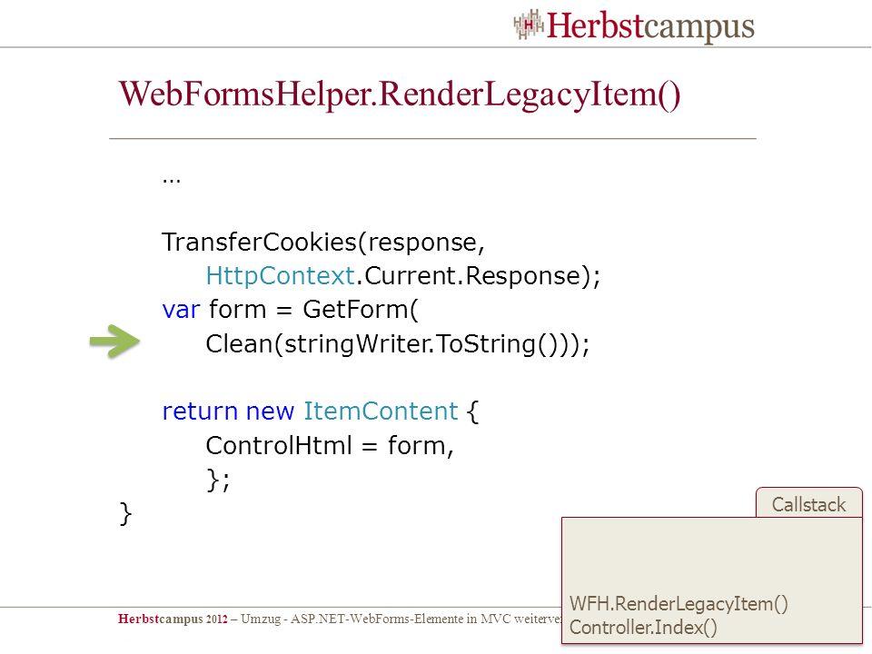 WebFormsHelper.RenderLegacyItem()