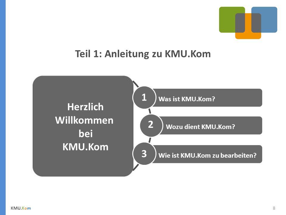 Teil 1: Anleitung zu KMU.Kom