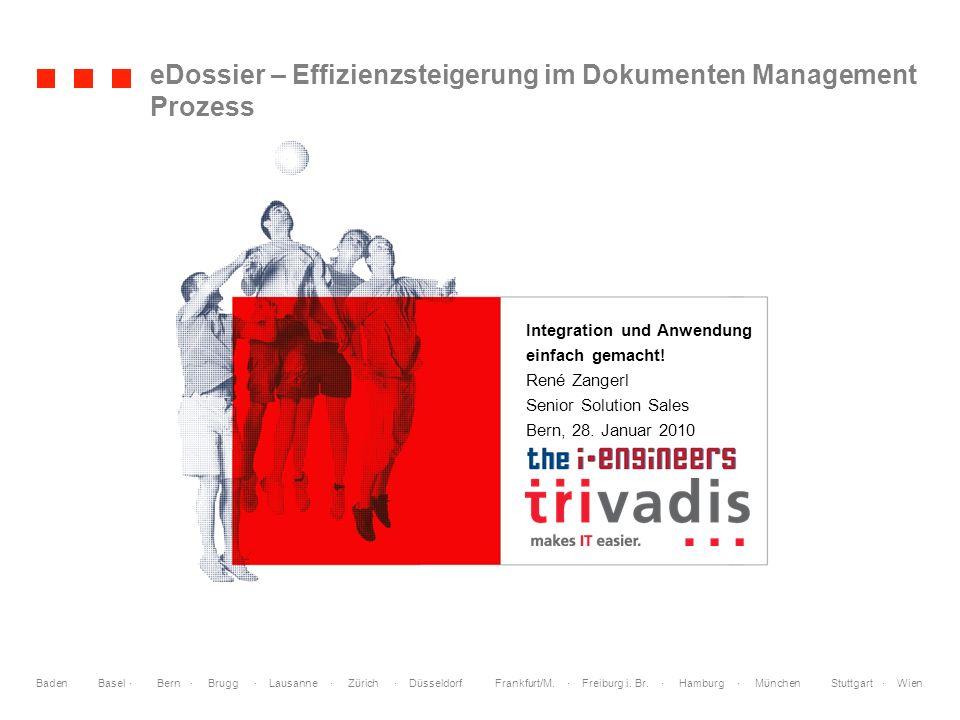 eDossier – Effizienzsteigerung im Dokumenten Management Prozess
