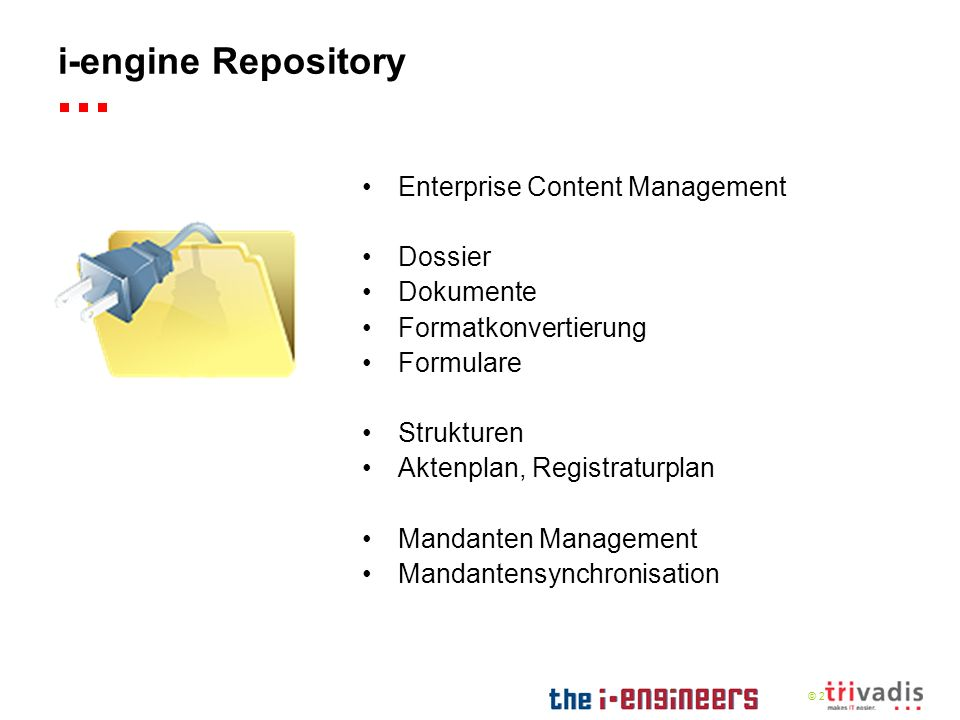 i-engine Repository Enterprise Content Management Dossier Dokumente