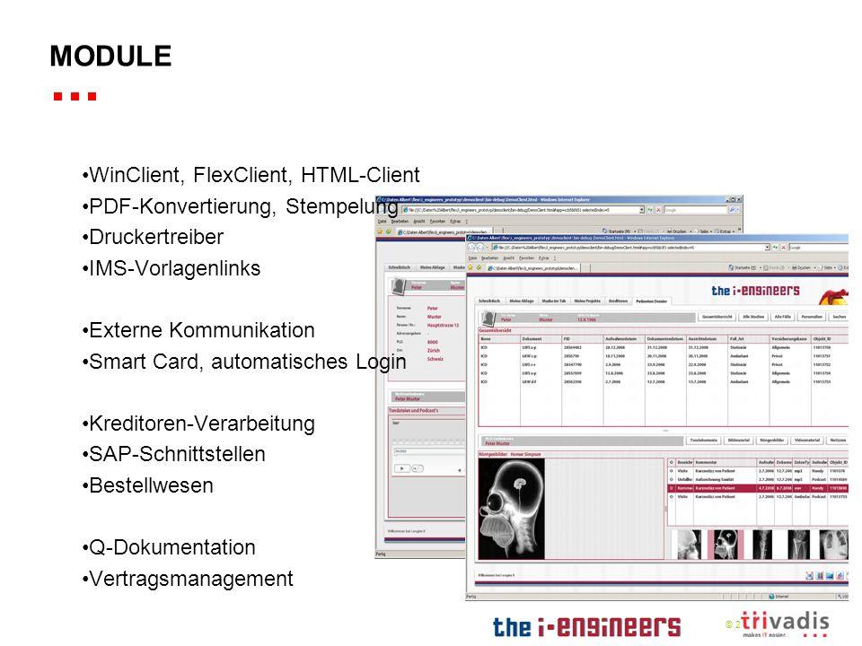 Module WinClient, FlexClient, HTML-Client