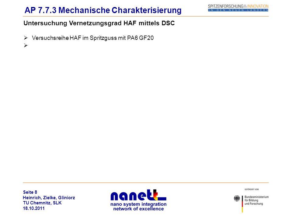 AP 7.7.3 Mechanische Charakterisierung