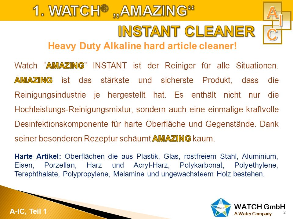 Heavy Duty Alkaline hard article cleaner!