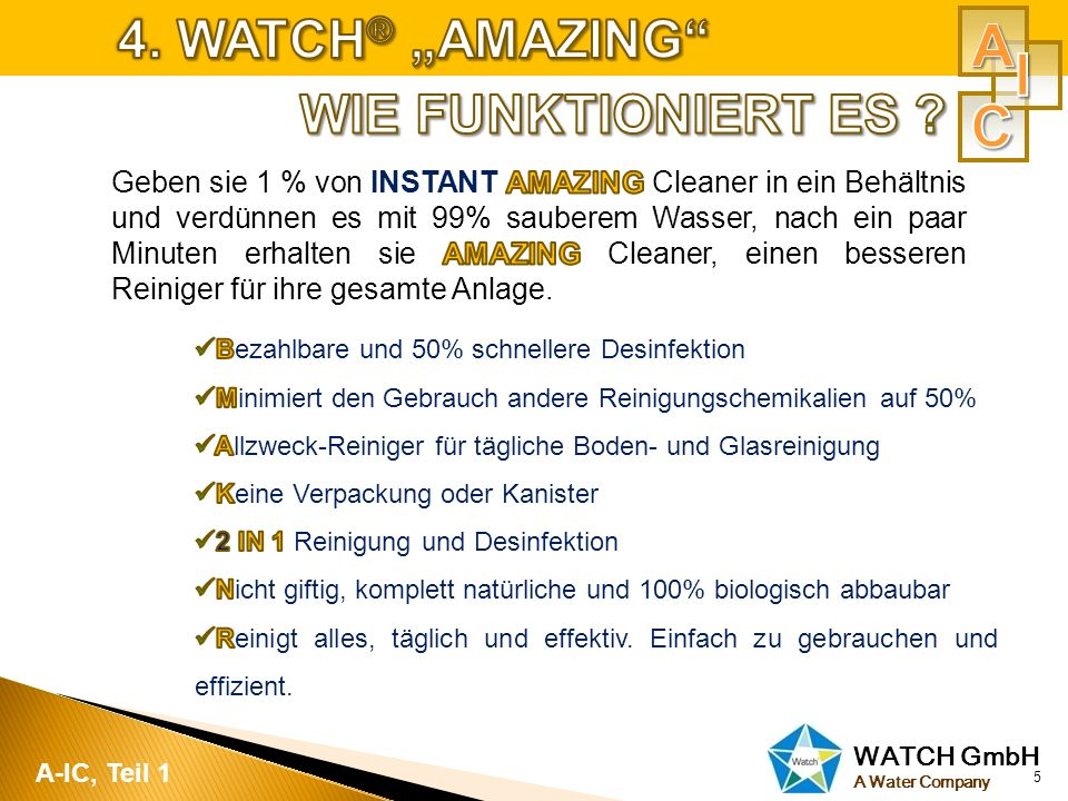 "A I C 4. WATCH® ""AMAZING WIE FUNKTIONIERT ES"