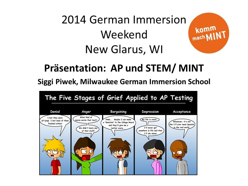 2014 German Immersion Weekend New Glarus, WI