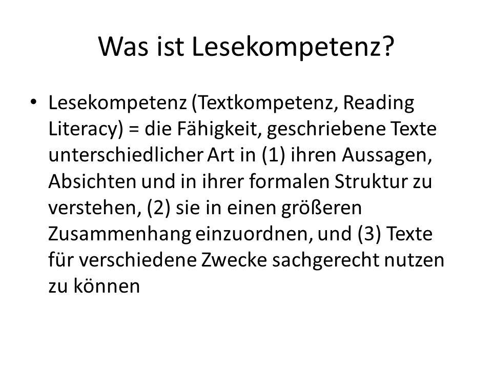 Was ist Lesekompetenz