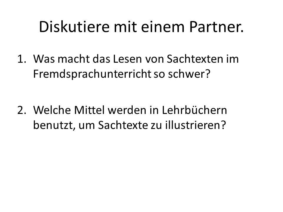 Diskutiere mit einem Partner.