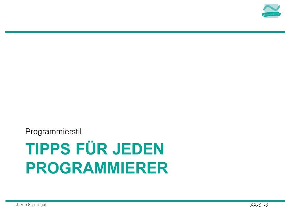 Tipps für Jeden Programmierer