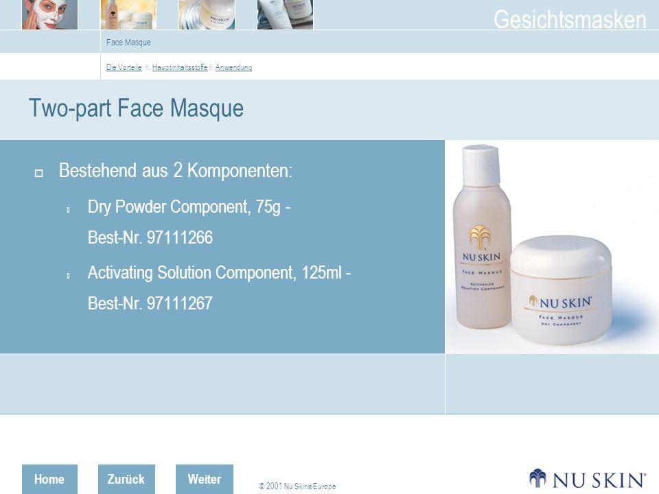 Two-part Face Masque Bestehend aus 2 Komponenten:
