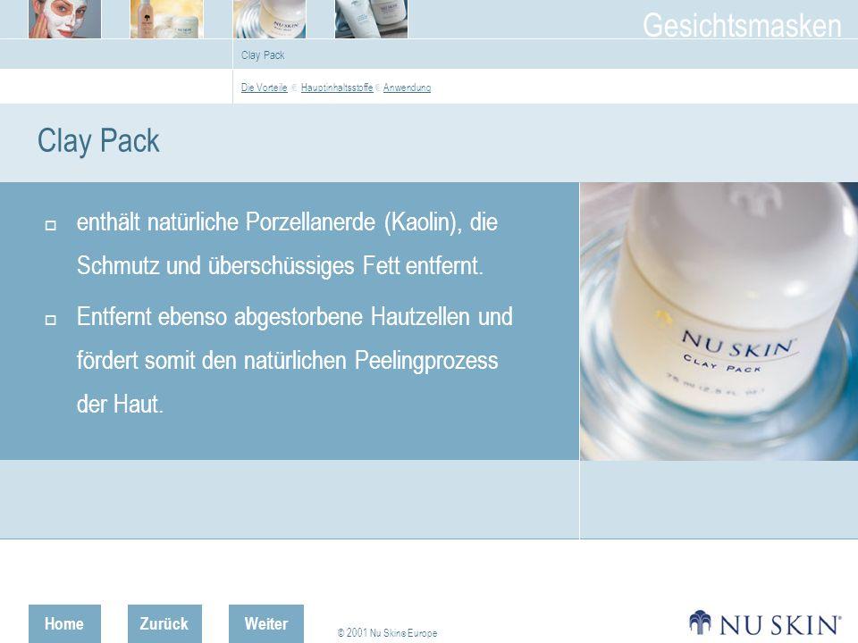 Clay Pack Die Vorteile € Hauptinhaltsstoffe € Anwendung. Clay Pack.