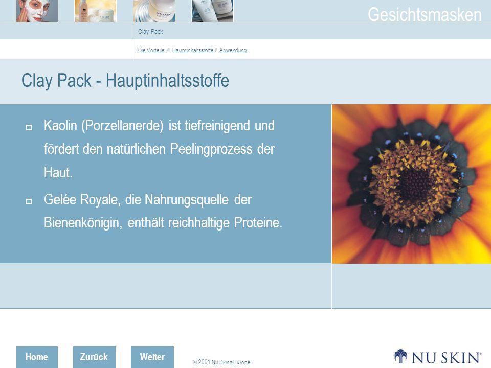 Clay Pack - Hauptinhaltsstoffe