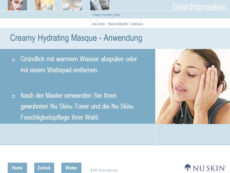 Creamy Hydrating Masque - Anwendung