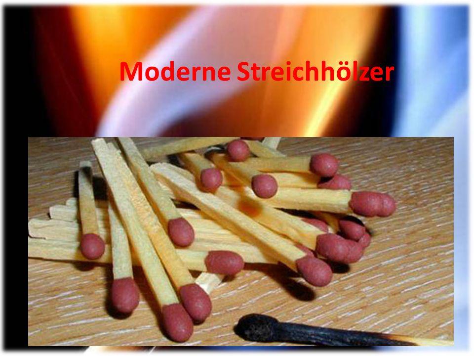 Moderne Streichhölzer
