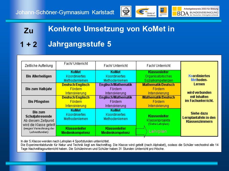 Konkrete Umsetzung von KoMet in Jahrgangsstufe 5