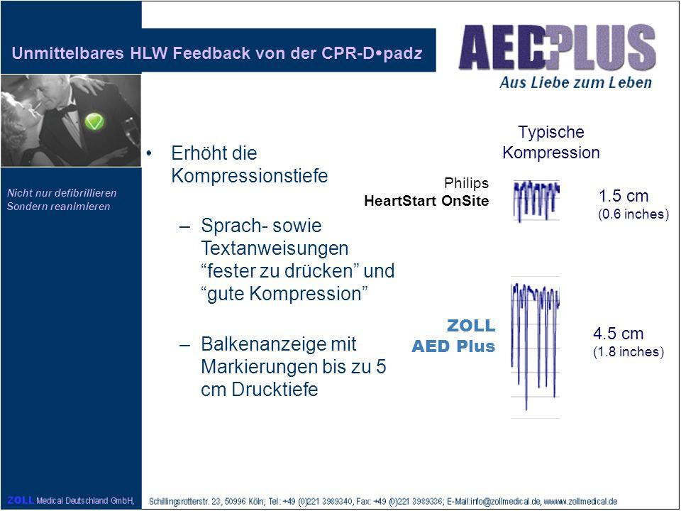 Unmittelbares HLW Feedback von der CPR-Dpadz