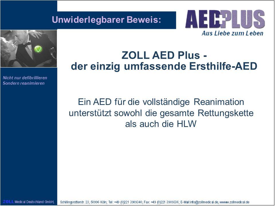 ZOLL AED Plus - der einzig umfassende Ersthilfe-AED